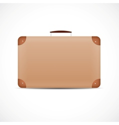 vintage brown suitcase vector image