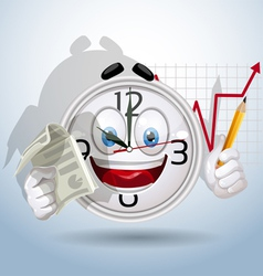 Watch smiley is a presentation of the company vector image