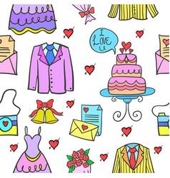 Wedding party element vector