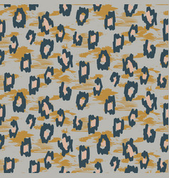 Wild animal skin stains seamless pattern gray vector