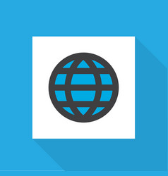 world icon flat symbol premium quality isolated vector image