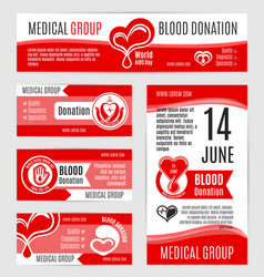 blood donation or aids day posters vector image