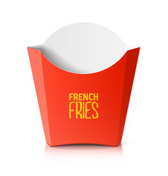 French fries paper box vector image vector image