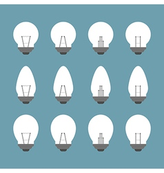Light bulbs and Bulb icon set vector image