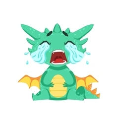 Little Anime Style Baby Dragon Crying Out Loud vector image vector image
