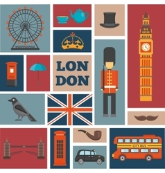 London Square Icon Set vector image vector image