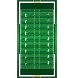 Realistic American Football Field vector image vector image