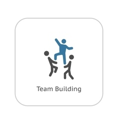 Team Building Concept Icon Flat Design vector image vector image