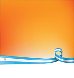 background with argentina flag vector image vector image