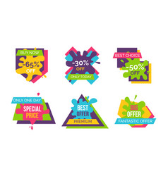 buy now best choice stickers vector image vector image
