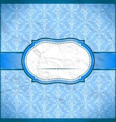 Crumpled vintage lace frame vector image