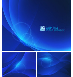 deep blue abstract background vector image vector image