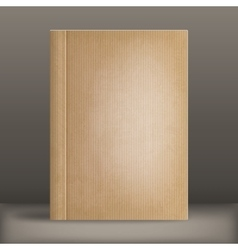 grunge blank book cover vector image