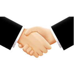 handshake on white background vector image