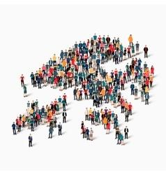 people map country Hong Kong vector image