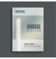 Brochure annual report vector image vector image