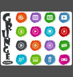cinema icon set vector image