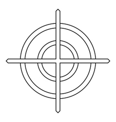 Crosshair icon in outline style vector image