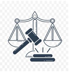icon social justice vector image vector image