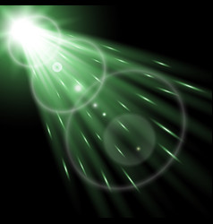 light circle with a spotlight green color vector image vector image
