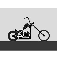 Motorcycle custom chopper vector image vector image