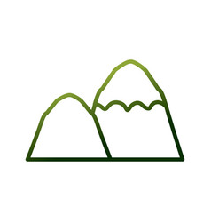 mountains nature landscape vector image