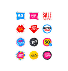 sale banners best offers discounts tags vector image