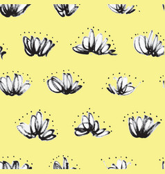 seamless pattern with random marker scribbles vector image vector image