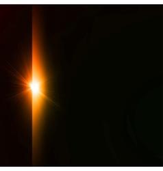 Star burst yellow on black background vector image