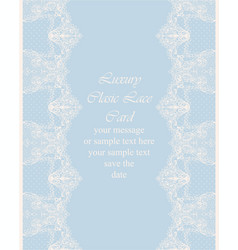 vintage delicate lace card handmade ornament for vector image