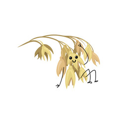 cute funny oat ear cartoon character vector image vector image