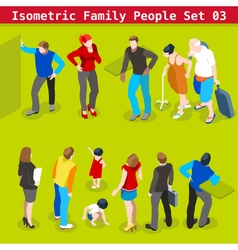 Family Set 03 People Isometric vector image