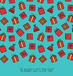 Hand drawn colorful birthday card or intitation vector image