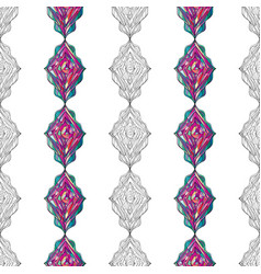 hand drawn ornament pattern geometric vector image vector image