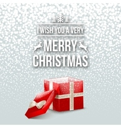 Merry Christmas Design Typography Lettering vector image vector image