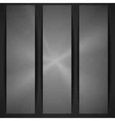 Metal Texture Banner vector image