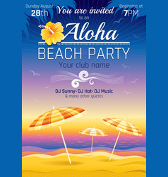 party invitation design for vector image vector image