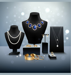 Realistic Jewelry Display vector image vector image