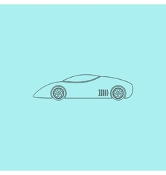 Silhouette of sport car for racing sports vector image