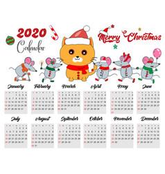2020 calendar vector