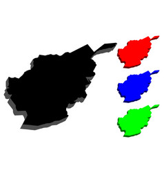 3d map of afghanistan vector image