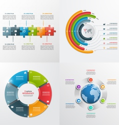 6 steps infographic templates Business concept vector