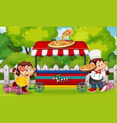 a food vendor at park vector image