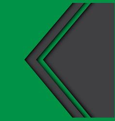 Abstract green gray arrow design modern vector