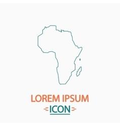 Africa computer symbol vector