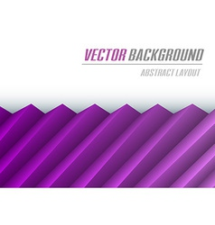 Background creased layout half purple vector