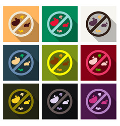 bacteria and germs colorful set micro-organisms vector image