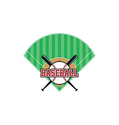 baseball league theme vector image