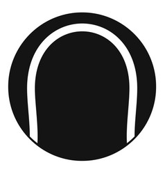 black and white tennis ball icon simple style vector image