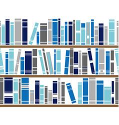 bookshelf seamless pattern vector image